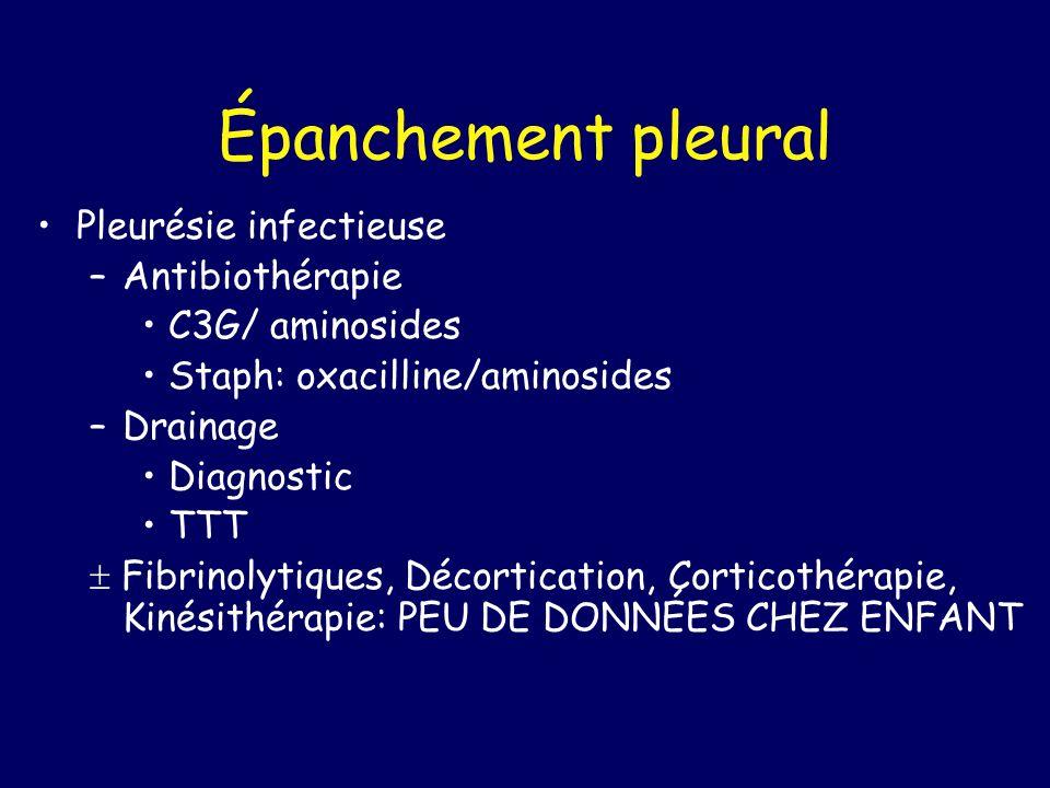 Épanchement pleural Pleurésie infectieuse Antibiothérapie