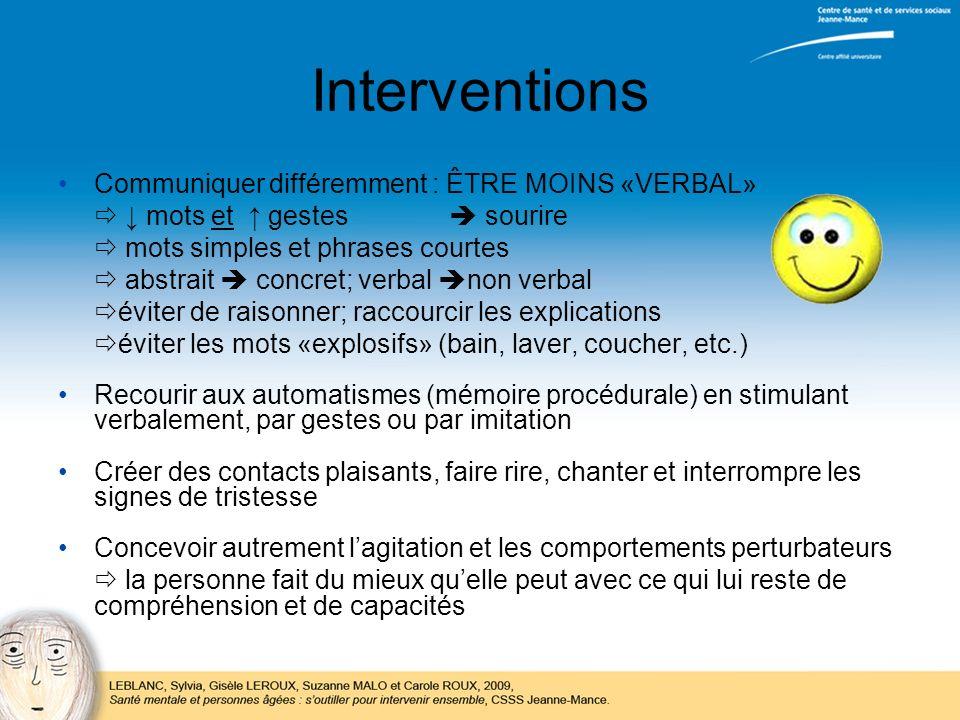 Interventions Communiquer différemment : ÊTRE MOINS «VERBAL»