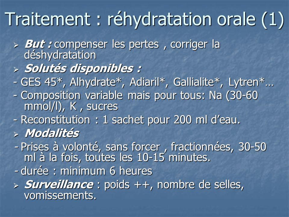 Traitement : réhydratation orale (1)