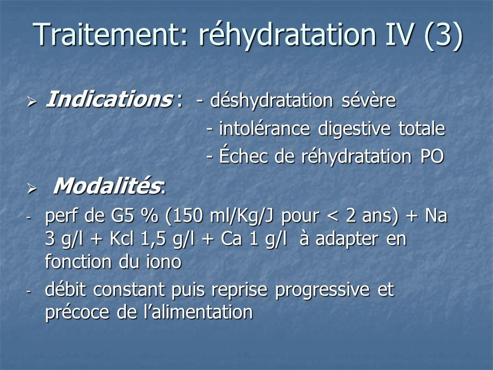 Traitement: réhydratation IV (3)