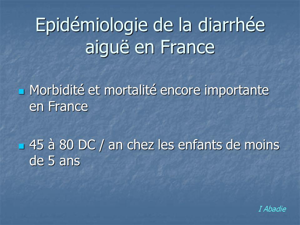 Epidémiologie de la diarrhée aiguë en France