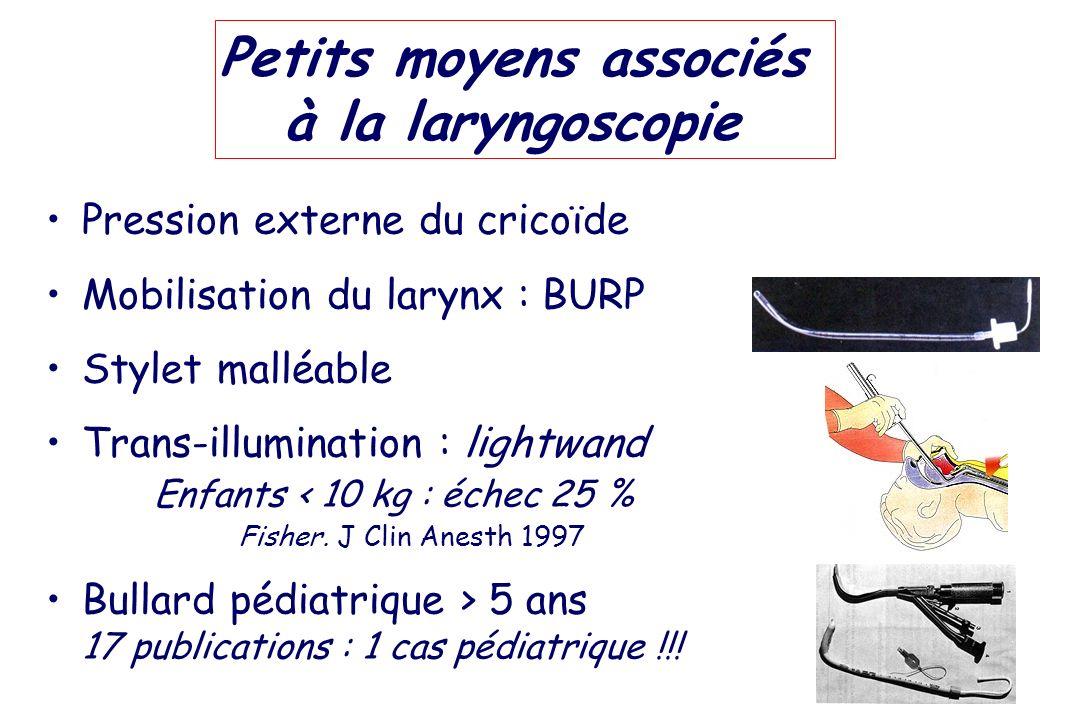 Petits moyens associés à la laryngoscopie