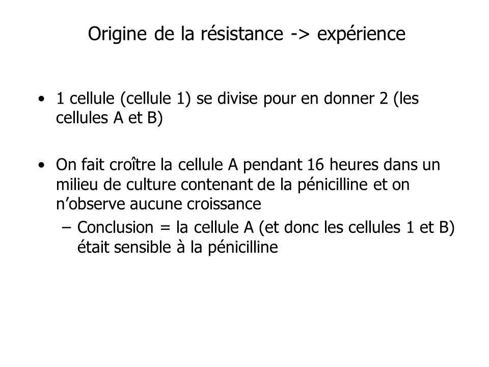 Origine de la résistance -> expérience