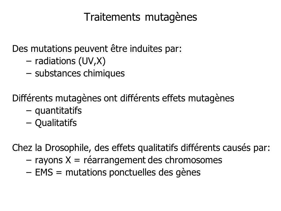 Traitements mutagènes