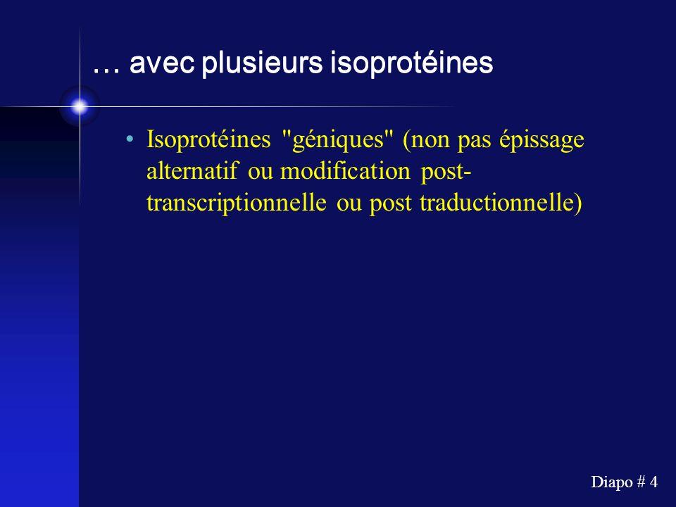 … avec plusieurs isoprotéines