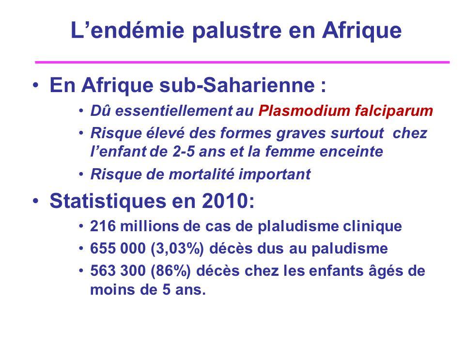 L'endémie palustre en Afrique