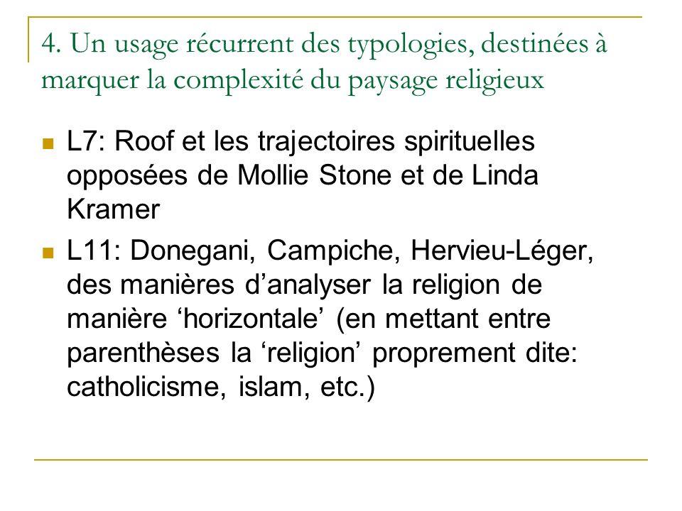 4. Un usage récurrent des typologies, destinées à marquer la complexité du paysage religieux