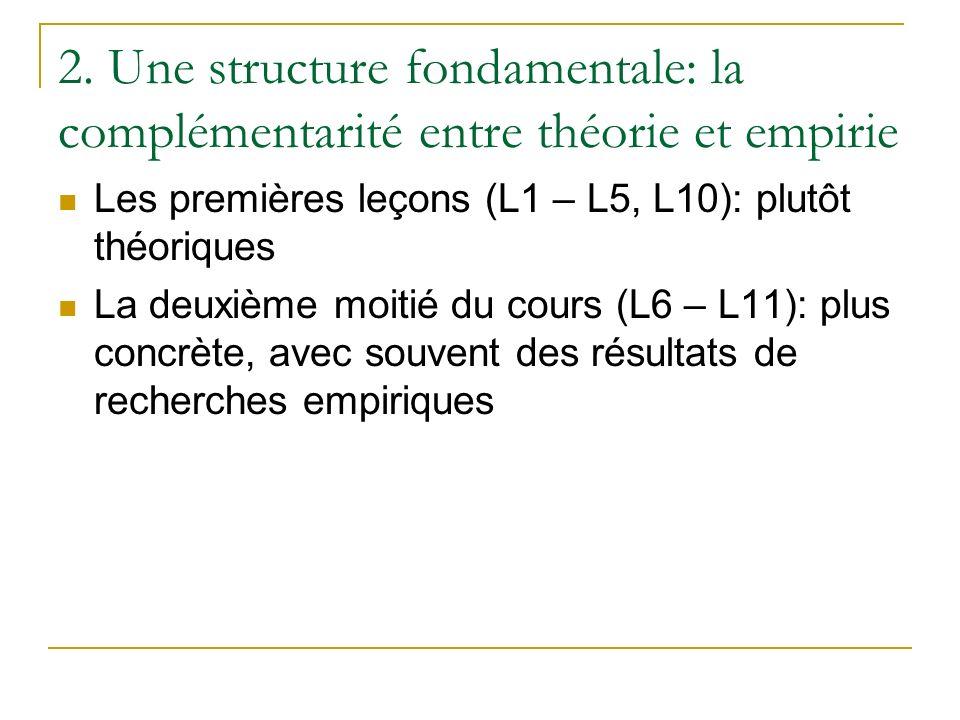 2. Une structure fondamentale: la complémentarité entre théorie et empirie
