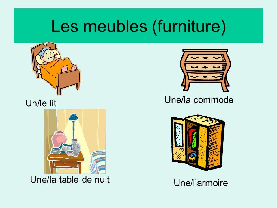 Les meubles (furniture)