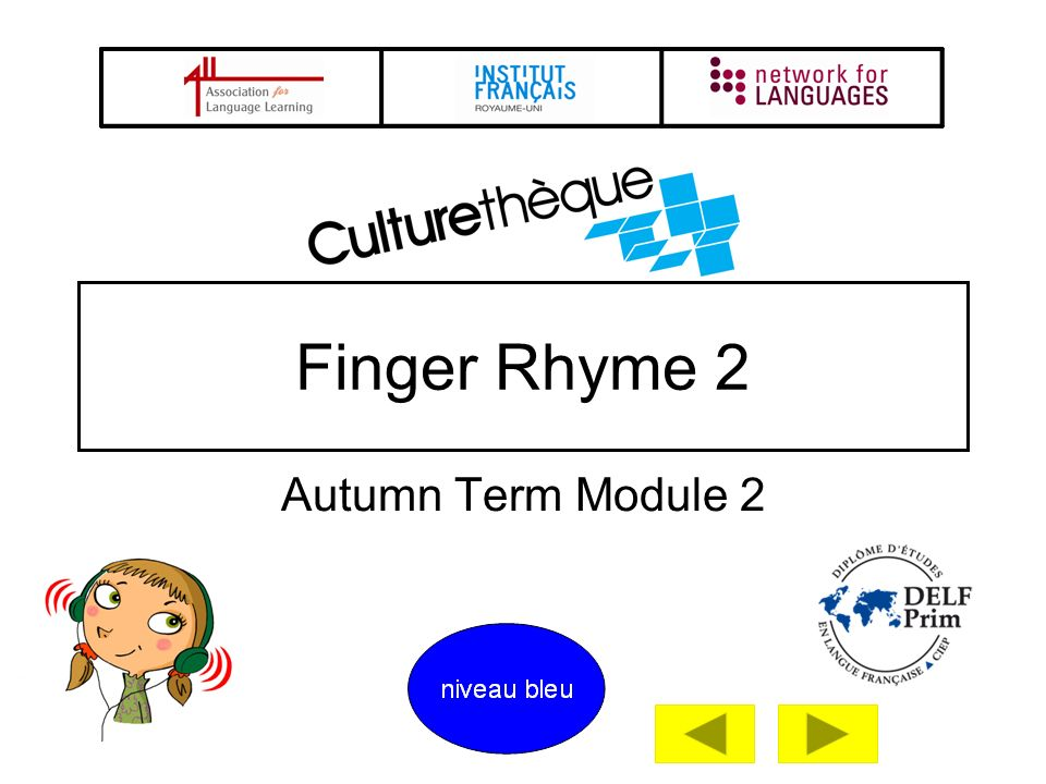 Finger Rhyme 2 Autumn Term Module 2