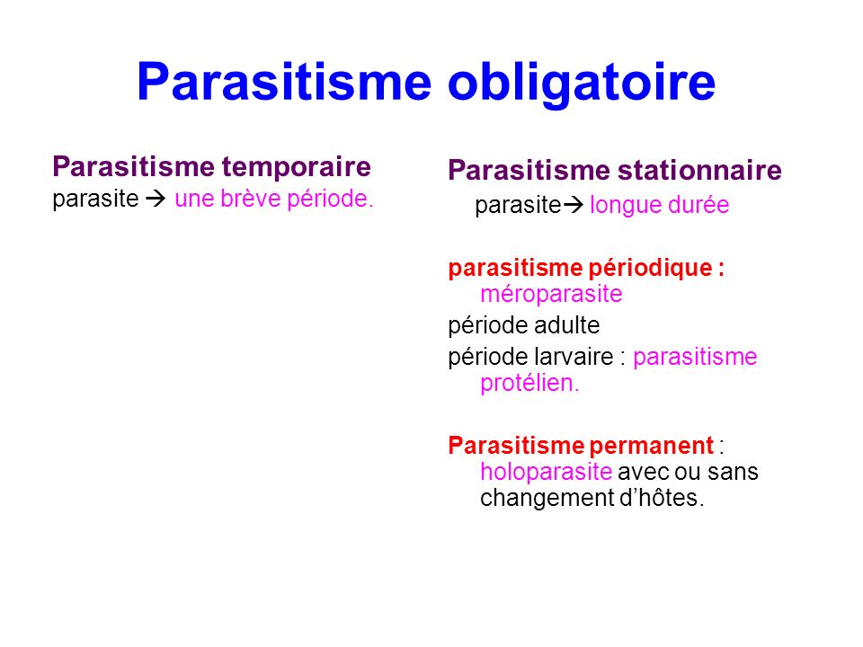 Parasitisme obligatoire