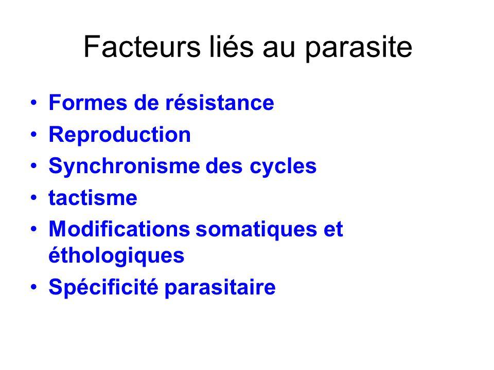 Facteurs liés au parasite