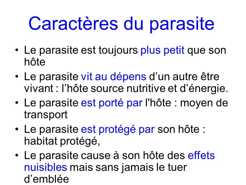 Caractères du parasite