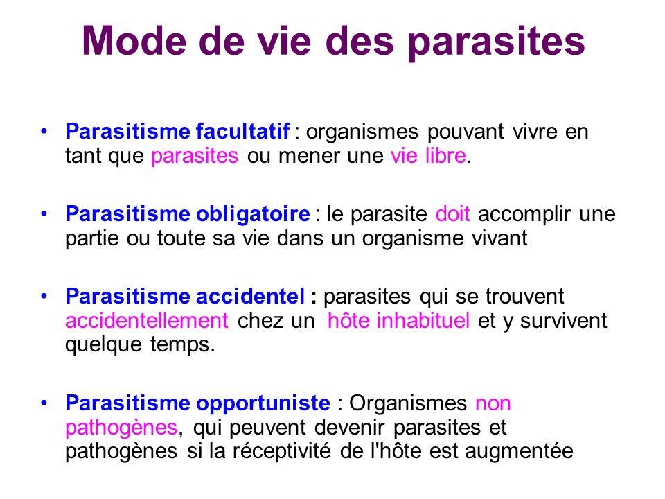 Mode de vie des parasites