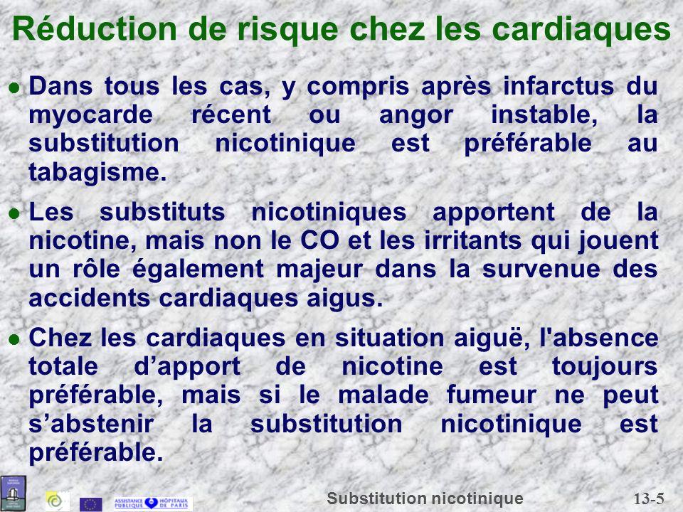 Réduction de risque chez les cardiaques