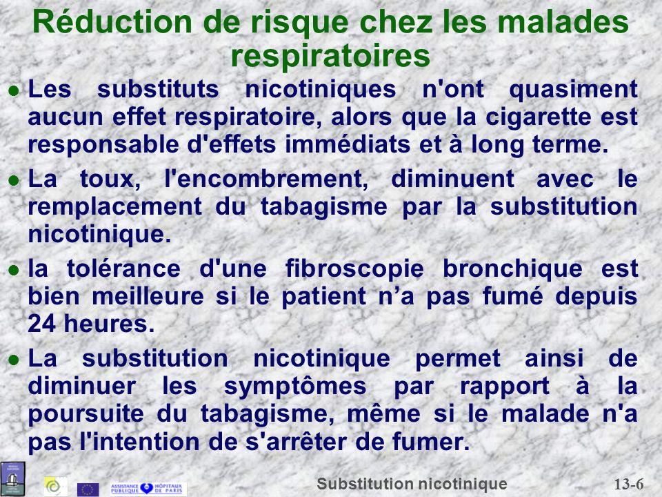 Réduction de risque chez les malades respiratoires