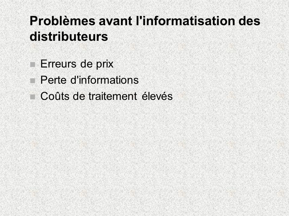 Problèmes avant l informatisation des distributeurs