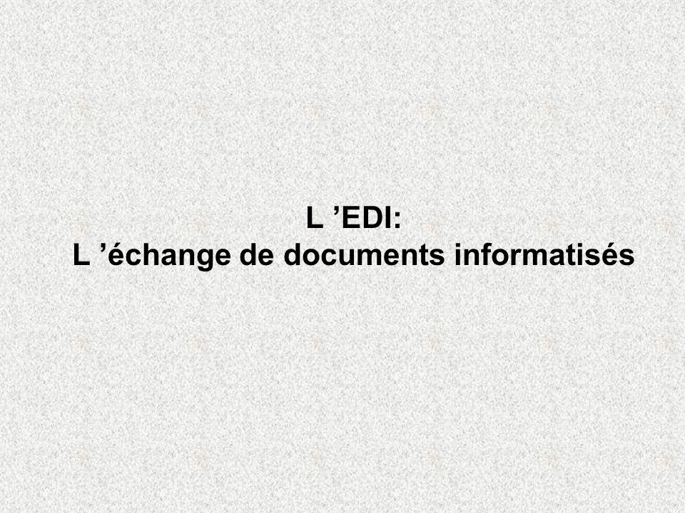 L 'EDI: L 'échange de documents informatisés