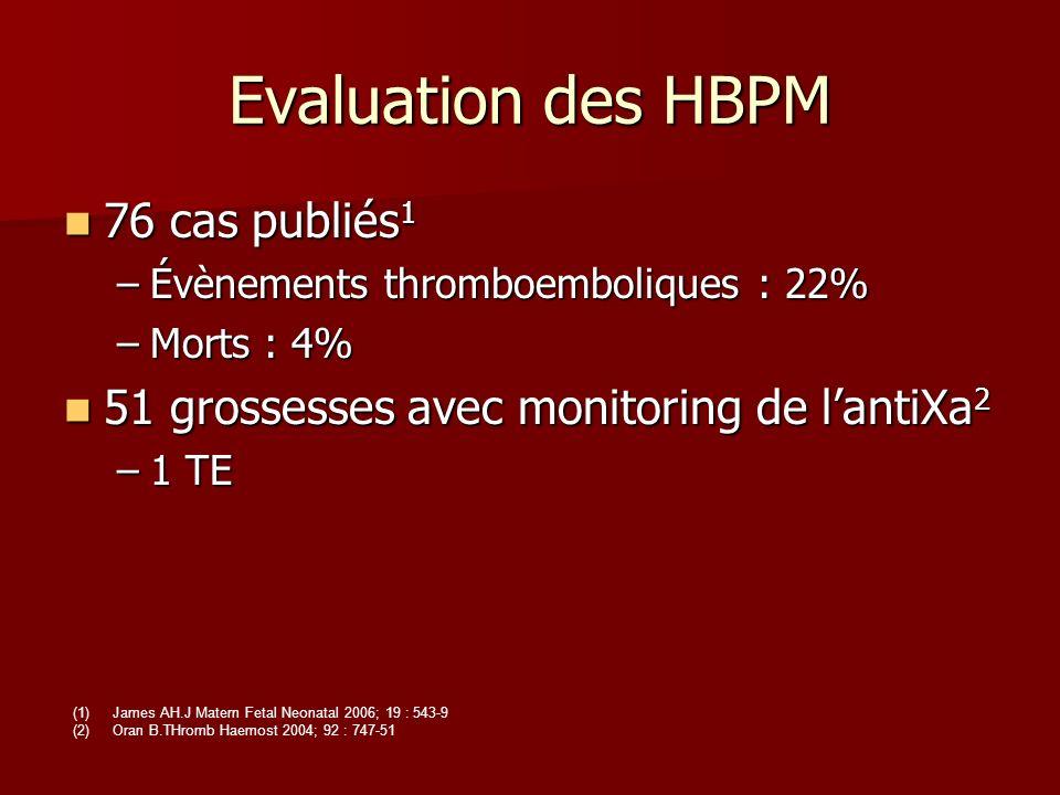 Evaluation des HBPM 76 cas publiés1