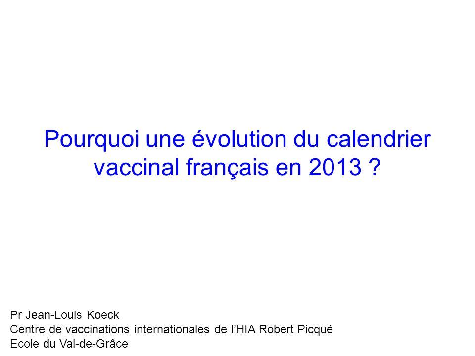 Pourquoi une évolution du calendrier vaccinal français en 2013