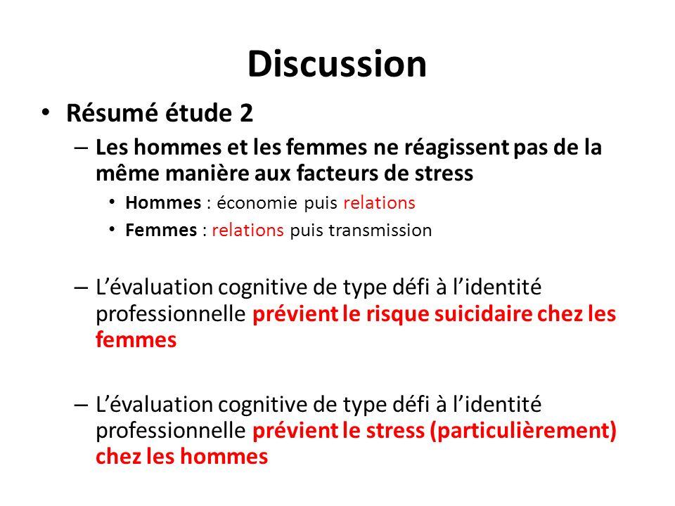 Discussion Résumé étude 2