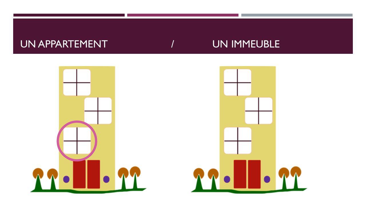 un appartement / Un immeuble