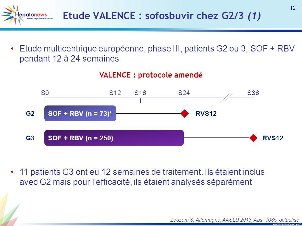 Etude VALENCE : sofosbuvir chez G2/3 (1)
