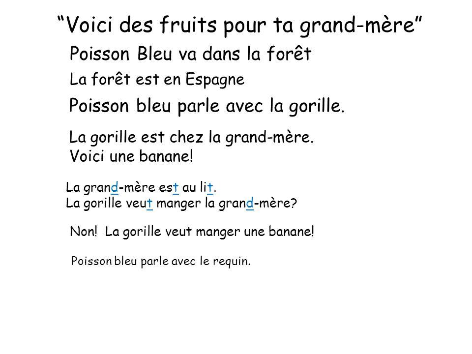 Voici des fruits pour ta grand-mère