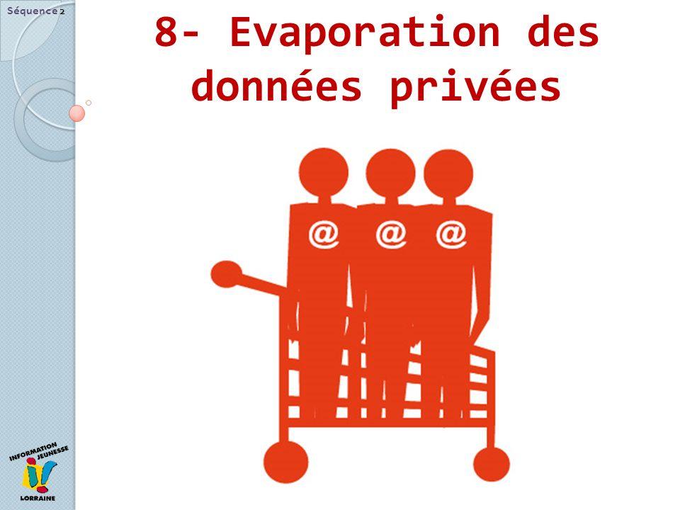 8- Evaporation des données privées