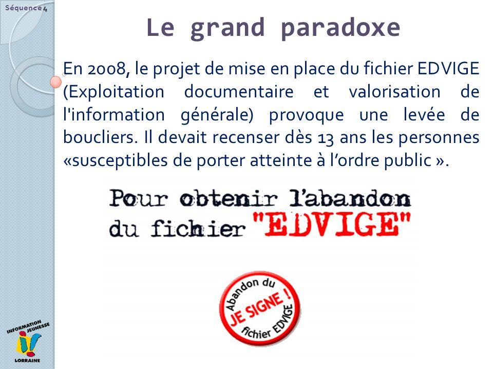 Séquence 4 Le grand paradoxe.