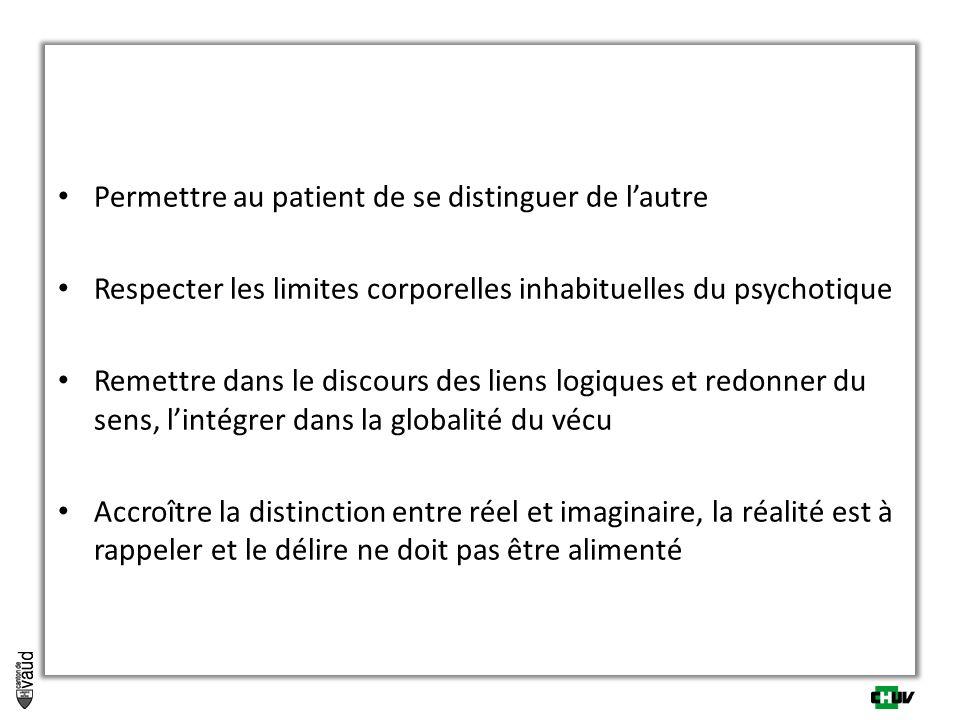 Permettre au patient de se distinguer de l'autre