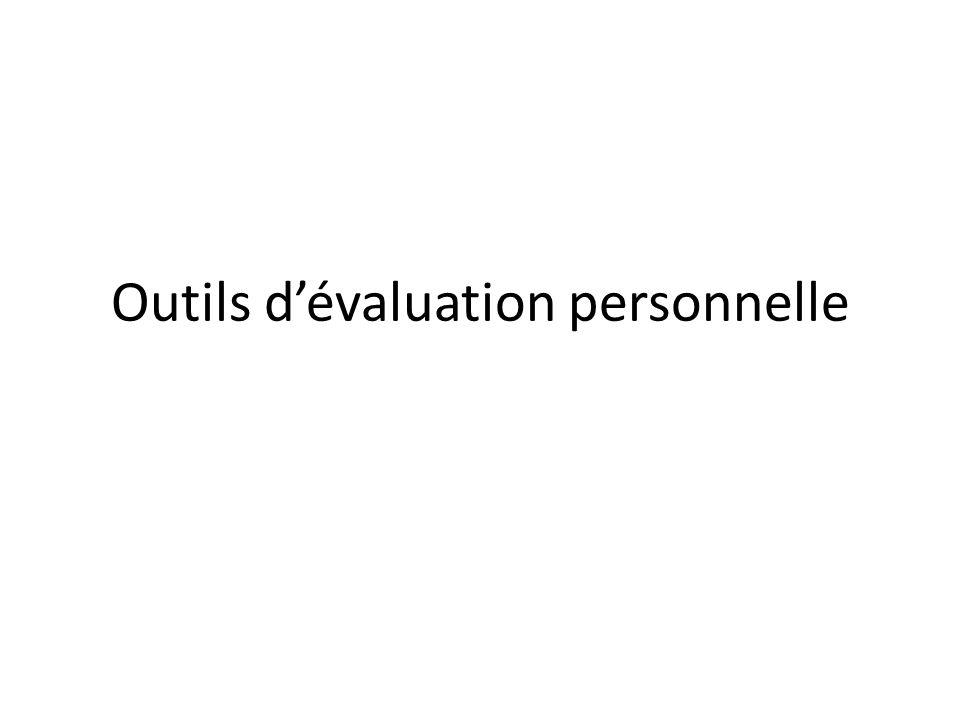 Outils d'évaluation personnelle