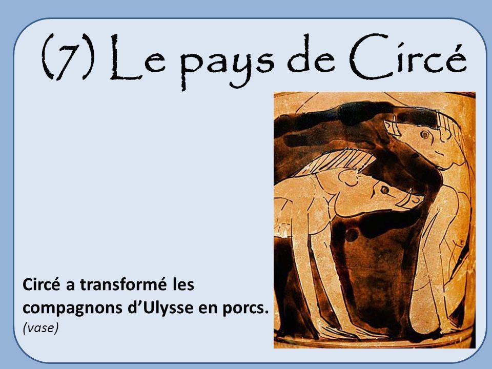 (7) Le pays de Circé Circé a transformé les compagnons d'Ulysse en porcs. (vase)