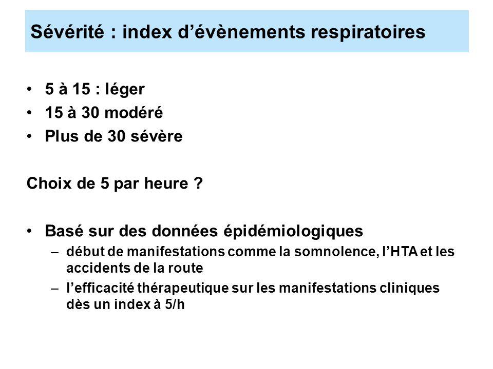Sévérité : index d'évènements respiratoires
