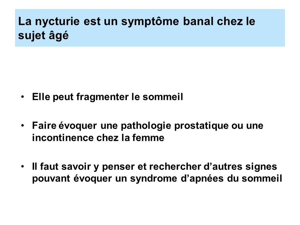 La nycturie est un symptôme banal chez le sujet âgé