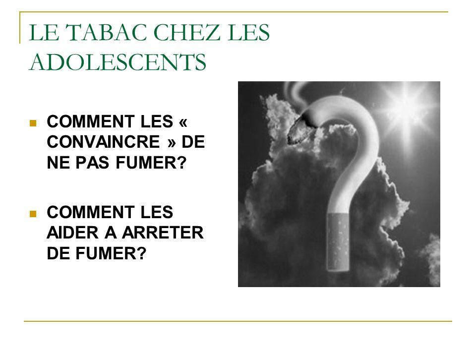 LE TABAC CHEZ LES ADOLESCENTS