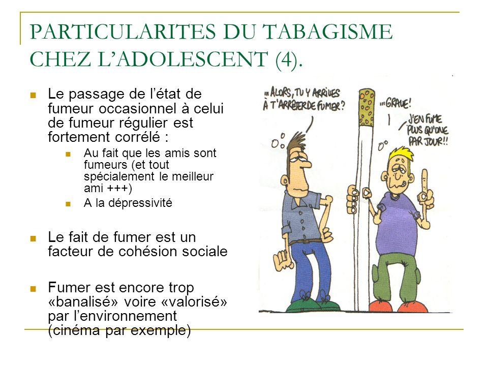 PARTICULARITES DU TABAGISME CHEZ L'ADOLESCENT (4).