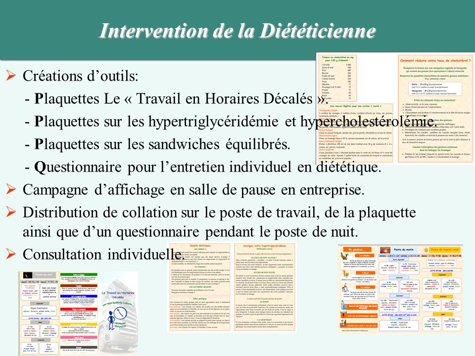 Intervention de la Diététicienne