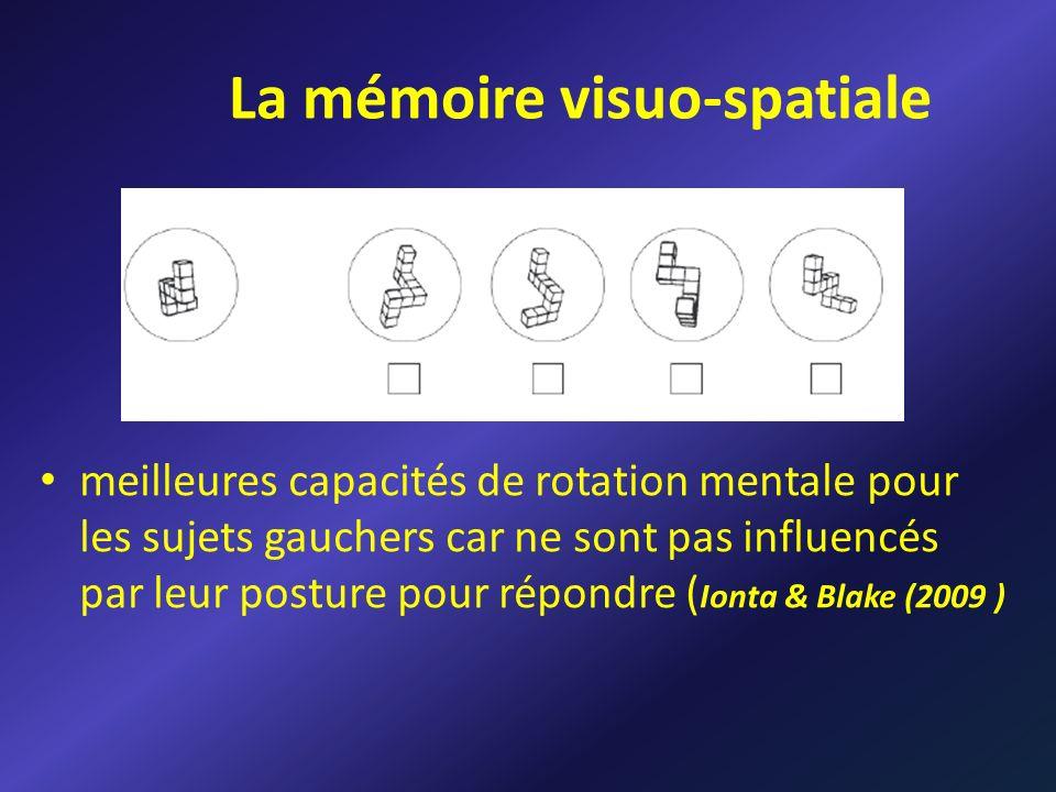 La mémoire visuo-spatiale