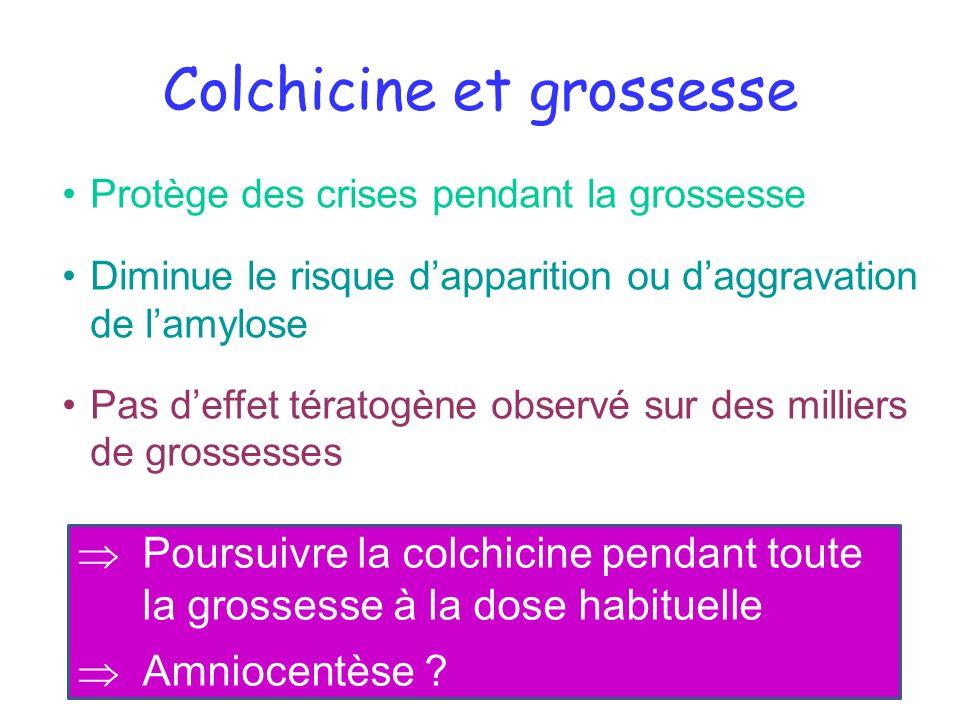 Colchicine et grossesse