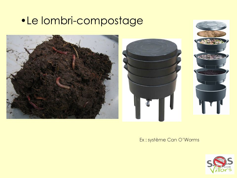 Le lombri-compostage Ex : système Can O'Worms
