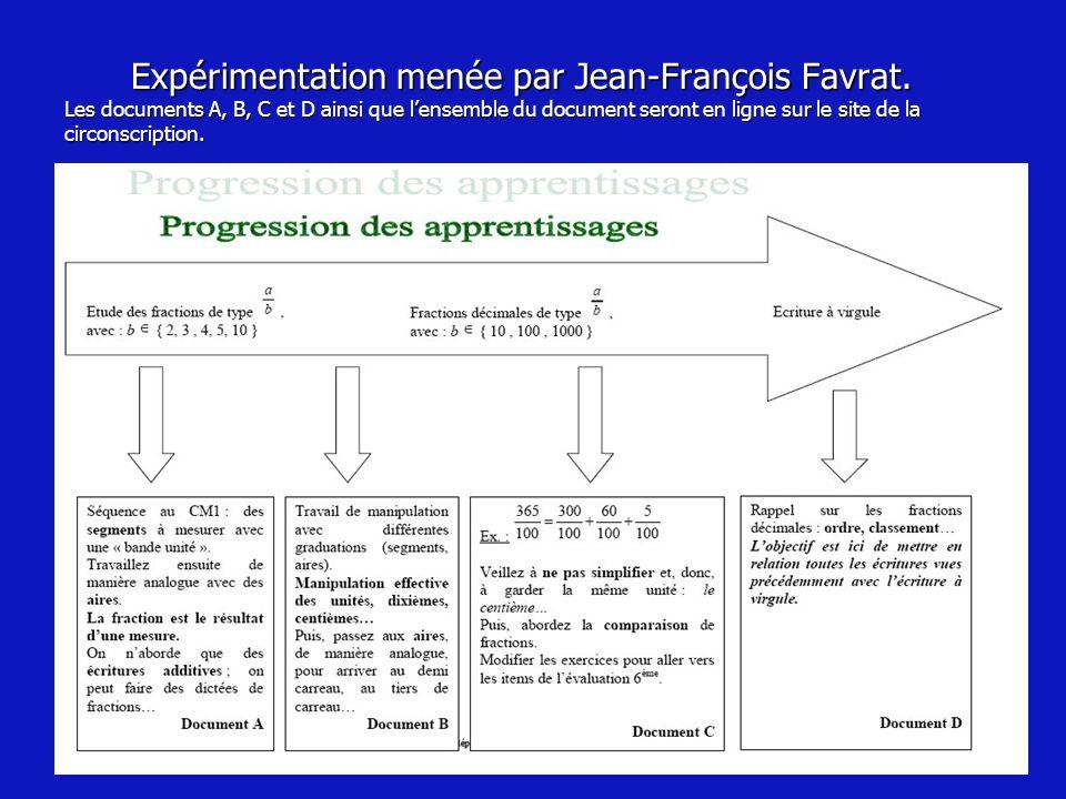 Expérimentation menée par Jean-François Favrat