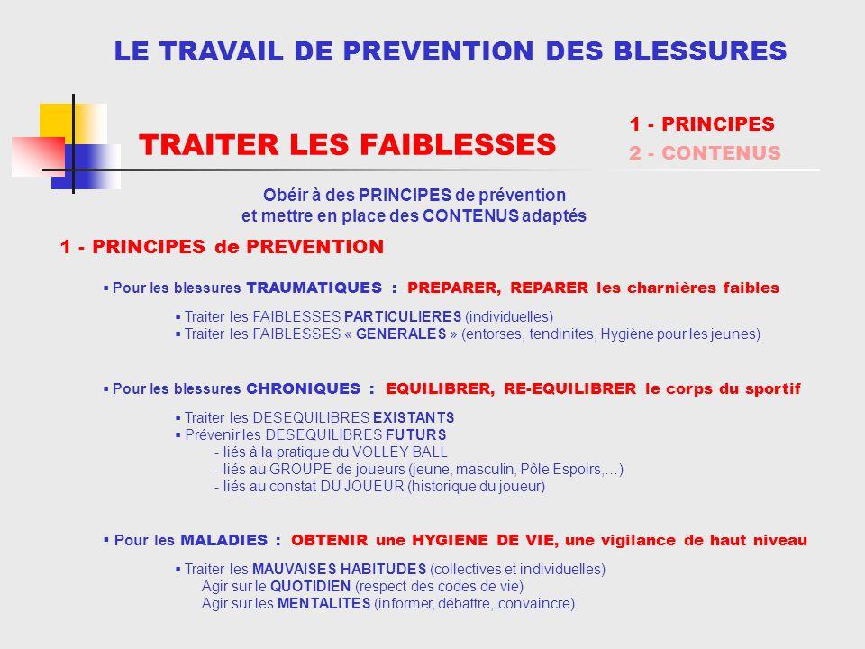 TRAITER LES FAIBLESSES