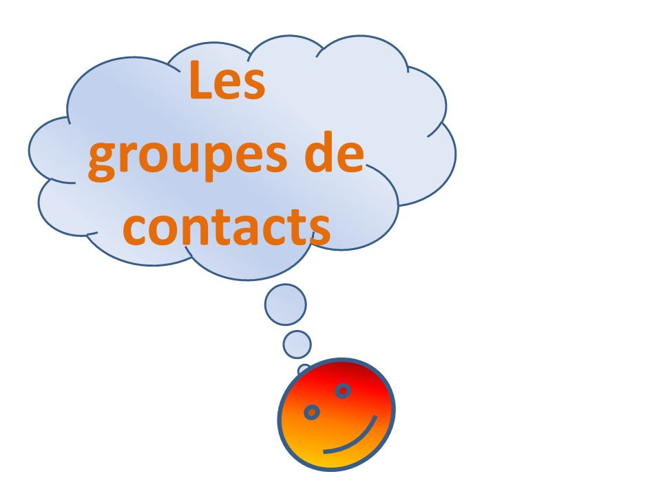 Les groupes de contacts