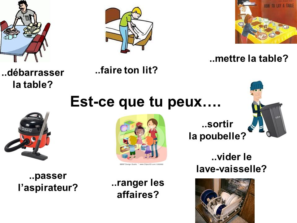 Je vous pr sente ma famille ppt video online t l charger - Debarrasser la table en anglais ...