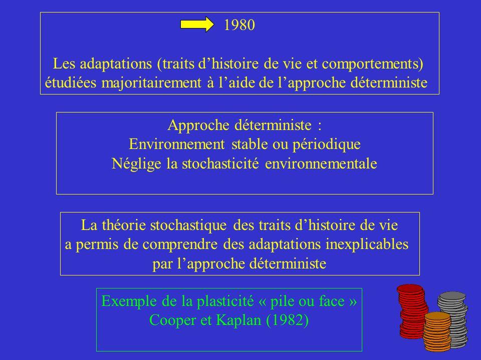 Les adaptations (traits d'histoire de vie et comportements)