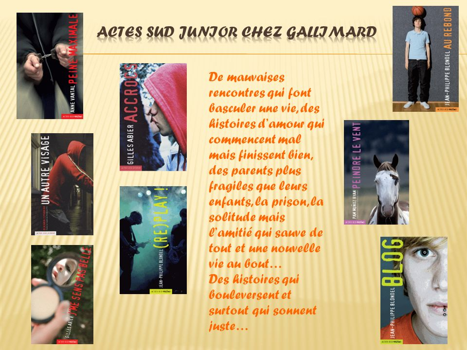 Actes Sud Junior chez Gallimard