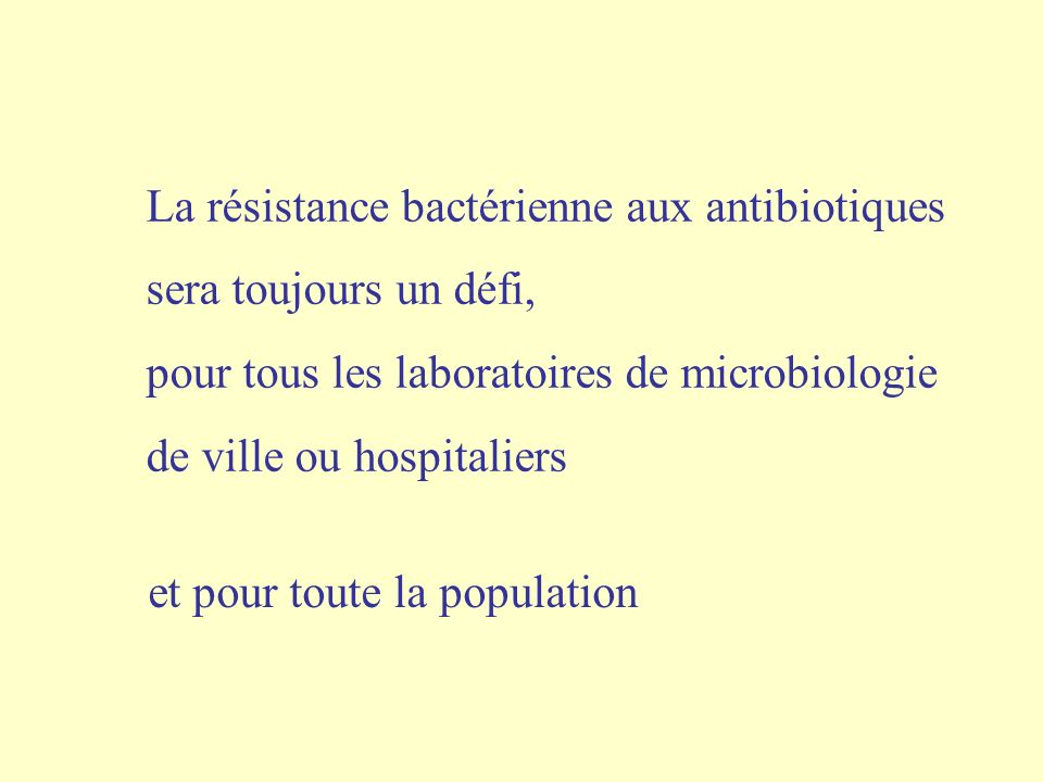 La résistance bactérienne aux antibiotiques