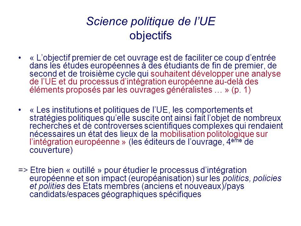 Science politique de l'UE objectifs