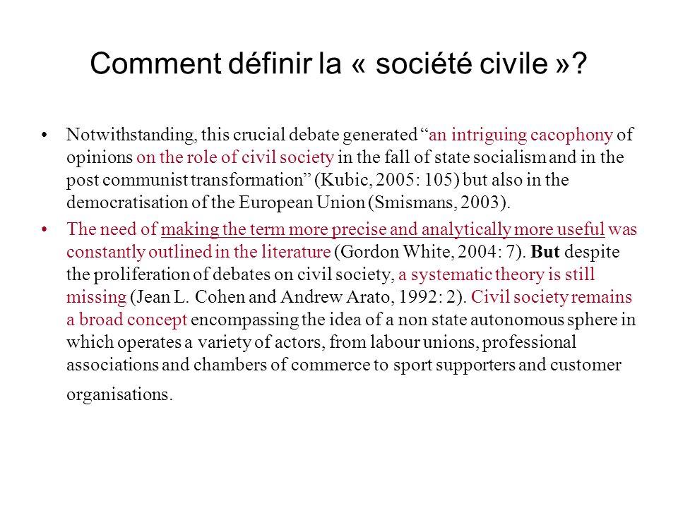 Comment définir la « société civile »